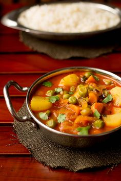 Easy mix vegetable curry recipe made in pressure cooker. This is a one pot comfort meal which could be conveniently made when you are in a rush.