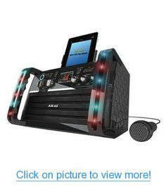 Akai CDG Portable Karaoke System with iPad Cradle $ Line Input