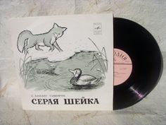 Vinyl Record Soviet Vintage Grey Neck Tale record Made in