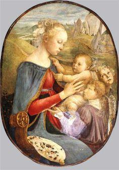 Madonna and Child with Two Angels -   SANDRO BOTTICELLI  vero nome Alessandro di Mariano di Vanni Filipepi (Firenze, 1º marzo 1445 – Firenze, 17 maggio 1510)   #TuscanyAgriturismoGiratola