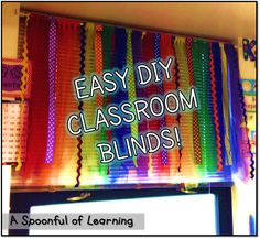 Super Easy DIY Classroom Blinds! No Sewing or Gluing!