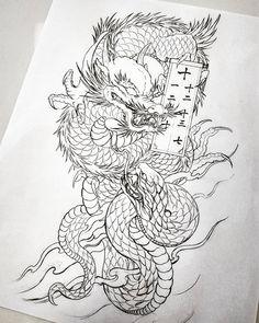 Dragon Tattoo Drawing, Dragon Tattoos For Men, Dragon Tattoo Back Piece, Back Tattoos For Guys, Japanese Dragon Tattoos, Japanese Tattoo Art, Japanese Tattoo Designs, Dragon Tattoo Designs, Tattoo Designs Men