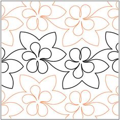 Luau quilting pantograph pattern by Lorien Quilting