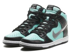 new concept 2d0e0 d8dd7 diamond nike sb dunk high tiffany Diamond Supply Co. x Nike SB Dunk High  Premium Tiffany Nikestore Release Info Putting the outfit together NOW