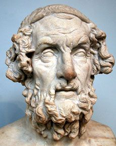 Homer, Marble Bust ancientgreece.com (geography, art, people, mythology, Olympics, wars, and society