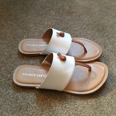 Summer sandals Purchased end of season on a whim- just not my style. Worn once. Franco Sarto Shoes Sandals
