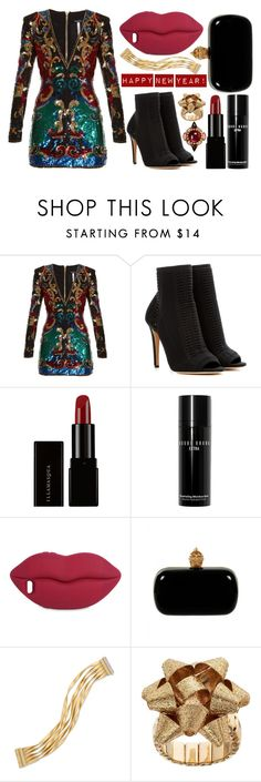 """street style"" by sisaez ❤ liked on Polyvore featuring Balmain, Gianvito Rossi, Illamasqua, Bobbi Brown Cosmetics, STELLA McCARTNEY, Alexander McQueen, Marco Bicego and Erickson Beamon"