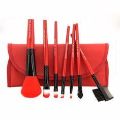Makeup Brushes 7 pcs Pro Set Powder Foundation Eyeshadow Eyeliner Lip Brush Tool Kit