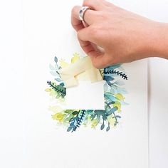 a great way to add a clean border to your watercolor painting Watercolour