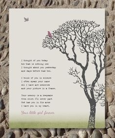 Remembrance Family Tree Grief Grieving Art Print Memorial Loss Loved One In Memory Sympathy Gift 8 x 10 custom print I Thought Of You Today, Thinking Of You Today, I Think Of You, Memorial Poems, Wedding Memorial, Remembrance Poems, Citation Souvenir, Mom In Heaven Quotes, Tree Poem