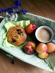 Scones, Tea Time, Brunch, Peach, Apple, Fruit, Coffee, Breakfast, Sweet
