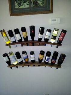 Wall Mounted Wine Rack Concave & Convex by raylivengood on Etsy, $45.00