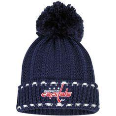 95fbbdfc6dd Reebok Washington Capitals Women s Navy Cuffed Pom Knit Hat Washington  Capitals Hockey