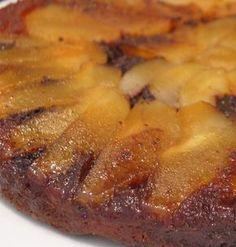 Recette de Gâteau renversé poires-chocolat : la recette facile