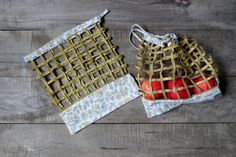 Zero waste, bags for fruits and vegetables – made from recycled fabric Cookies Et Biscuits, Pot Holders, Etsy, Scrap Fabric, Fabrics, Eco Friendly Bags, Handmade, Fruits And Veggies, Hot Pads