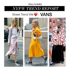"""NYFW Trend Report: Vans"" by polyvore-editorial ❤ liked on Polyvore featuring Vans, NYFW, vans and pvnyfw"