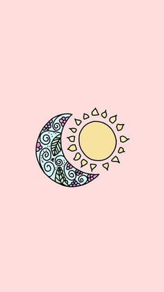 The moon and the sun lua desenho, papel de parede celular fofo desenho, papel Tumblr Iphone Wallpaper, Hipster Wallpaper, Aesthetic Iphone Wallpaper, Pink Wallpaper, Screen Wallpaper, Cool Wallpaper, Aesthetic Wallpapers, Cute Backgrounds, Phone Backgrounds