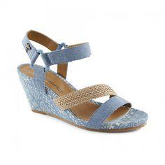 8787da9c767c Ladies Pianosa wedge sandal Washed Denim