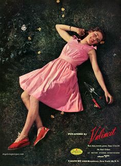 Summer pinafore by Valincot, 1944.