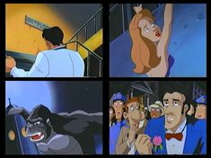Jack Driscoll, C.B. Denham, Roscoe, Ann Darrow, Kong, & other characters  from The Mighty Kong 1998 Screenshots King Kong, Ann, Family Guy, Guys, Fictional Characters, Boyfriends, Fantasy Characters, Boys, Men
