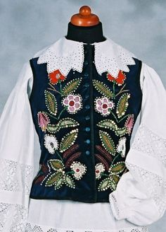 Beaded embroidery from Przeworsk in Rzeszow region - woman's vest