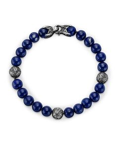 Spiritual Beads Bracelet with Lapis Lazuli by David Yurman at Neiman Marcus.