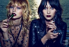V Magazine Fall Preview: Double Trouble - Gigi & Bella in Saint Laurent