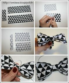 Diy And Crafts Sewing, Sewing Projects, Diy Crafts, Diy Papillon, Nespresso, Burda Patterns, Ideas Geniales, Bow Tutorial, Couture Sewing