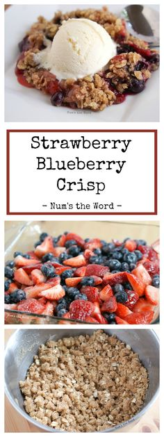 This Strawberry Blueberry Crisp is perfect for a quick toss together dessert! A perfect way to use up wilted berries and kid approved! One of my favorite all time desserts!