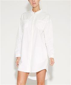 WHITE DENIM SHIRT DRESS