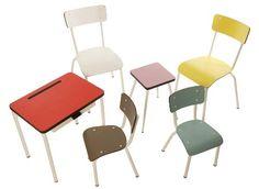 Les Gambettes propone una colección de muebles «Rétro-Design» inspirados en los años 50-70.  Su colección de mobiliario infantil incluye la silla Suzie y silla para niños Little Suzie, el pupitre Regine y el taburete Marcel.