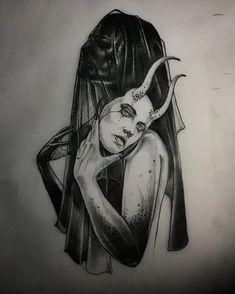 """Transient"" from … - Body Art Tattoo Sketches, Tattoo Drawings, Drawing Sketches, Tattoo Art, Black Art Tattoo, Arte Horror, Horror Art, Tattoos Geometric, Satanic Art"