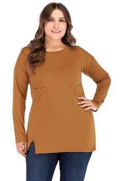 Curve Girl Plus Size Clothing - Women's Plus Size Desi Clothing      Casual Long Sleeves T. Shirt      $27.99      Retail Price:$54.99 #psdesi #psd #plussizedesi #plussizefashion #womensclothing #plussize Plus Size Dresses, Plus Size Outfits, Trendy Outfits, Short Dresses, Formal Skirt And Top, Skirt And Top Set, Curve Girl, Plus Size Fashion, High Fashion