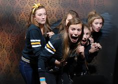 Best idea ever. Take pictures of people while they are in a haunted house and post them online. Hours of fun.