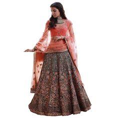 7d35fc4bc0 Buy Silk Lehenga Choli With Blouse Piece Green and orange Silk Lehenga,  Bridal Lehenga Choli