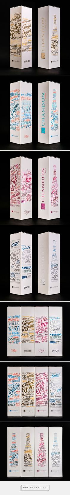 CHANDON packaging lineup 2015 / 2016 on Behance by Yani & Guille, Buenos Aires, Argentina curated by Packaging Diva PD. Lettering design for the packaging lineup of Chandon Argentina, 2015 / 2016 edition. Art Direction, Packaging, Typography.