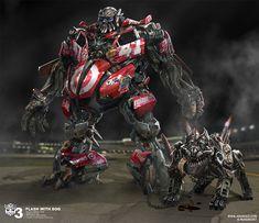 Flash with Dog (Transformers); by Josh Nizzi