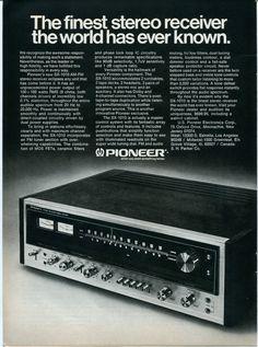 1974 PIONEER SX 1010 Stereo Receiver Audio Retro Vintage Original Ad $9.99