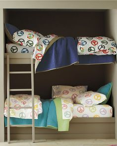 This would be cute for the kids bunkbeds in the camper!!!!!!! Flip-Side Quilt and Sham - Garnet Hill