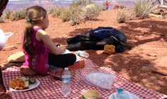 A picnic like no other at Cedar Ridge, Grand Canyon
