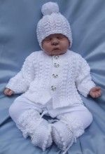 KNITTING PATTERN KSB 33***DUMPLINGS***CARDIGAN AND MATINEE COAT SETS FOR YOUR BABY OR REBORN DOLL