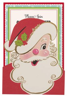 Santa Diecut Pocket Invitations