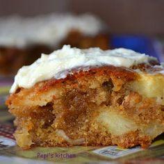 Pepi's kitchen: Κέικ μήλου Greek Recipes, Fruit Recipes, Cake Recipes, Greek Sweets, Crazy Cakes, Pain, Chocolate Cake, Cheesecake, Food Porn