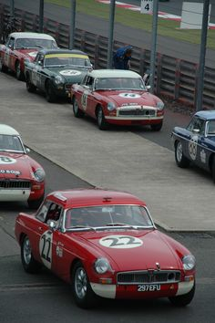 MGB start of the race at Silverstone in 2012, MGB50 anniversary