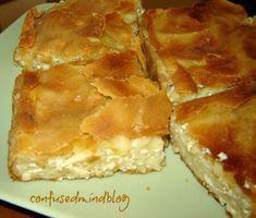 Macaroni Pie, Spanakopita, Greek Recipes, I Foods, Apple Pie, Pasta Recipes, Food And Drink, Savoury Pies, Cake
