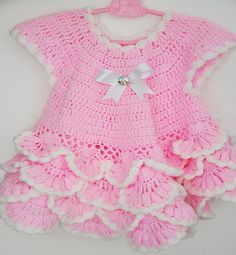 Big Sale Crocheted Baby Girl Dress in Cotton by KnittingbyDOGAART, $30.00