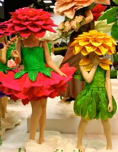 Flower dresses at the Royal Adelaide Show by Jenny Gillies   ****  These are the flowers Noah liked best. ****