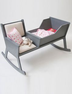 Rocking chair and cradle .... Wish I'd had this.  May have saved hours!!!
