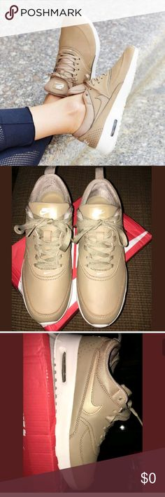 Nike Air max Thea  Desert Camo prm Need Gone ASAP ! New Never used /NO Box  Ordered these on here and so sad they are just too big on me No Returns Accepted  SORRY!  Size 8  Sold out everywhere and in store Serious buyers only Nike Shoes Athletic Shoes