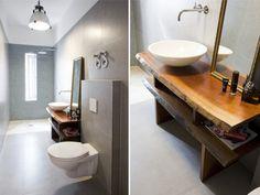 alargado baos vanitory rstico idea muebles decoracion bao aseos quiero hacer vivir escaleras espacios